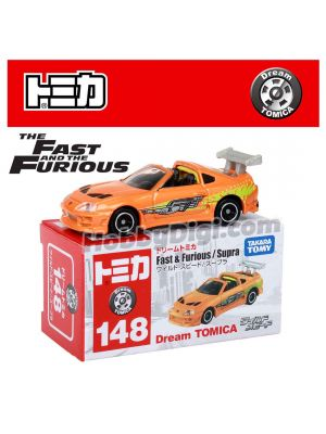Dream Tomica Diecast Model Car - No.148 Wild Speed Supra The Fast and the Furious Movie Ver.