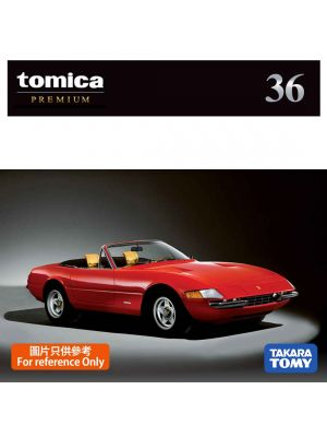 Tomica Premium Diecast Model Car - No36 Ferrari 365 GTS4