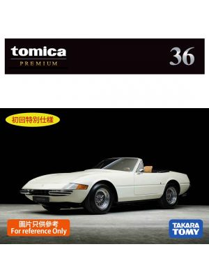 Tomica Premium Diecast Model Car - No36 Ferrari 365 GTS4 (First Ltd Edition)
