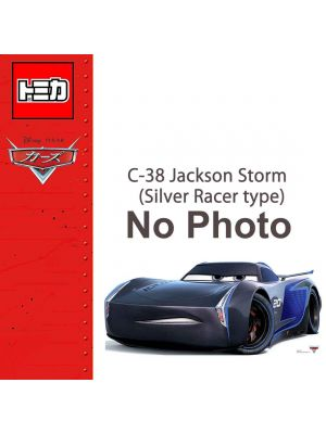 Tomica Disney Cars Diecast Model Car - C-38 Jackson Storm (Silver Racer type)