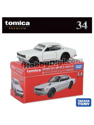 Tomica Premium Diecast Model Car No34 - NISSAN SKYLINE GT-R (KPGC10) (1st Special Edition)
