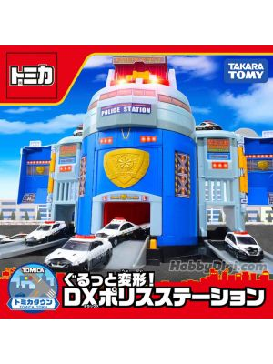 Tomica World - Transform DX Police Station with Toyota Crown for Transform DX Police Station