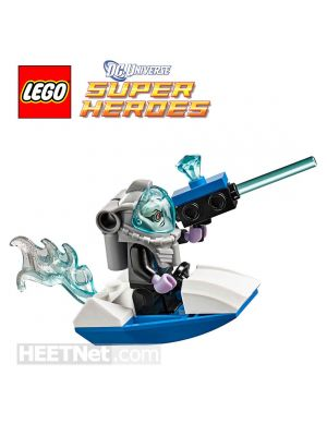 LEGO Loose Machine and Minifigure DC Comics: Mr Freeze and his Ice Speeder