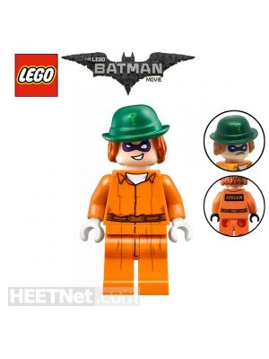 LEGO Loose Minifigure The Batman Movie: The Riddler with Prison Jumpsuit