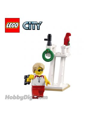 LEGO Loose Decoration and Minifigure City: Lifeguard with Tower and Parrot