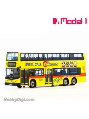 Model 1 1:76 Diecast Model Car - Citybus Volvo Super Olympian 12m (Private Hire Service Retro Livery) - 252 rt. 88R Residents' Service