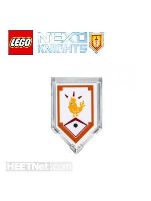 LEGO Loose Accessories Nexo Knights: Lance Scannable Shield 303 Powers of Chicken Power