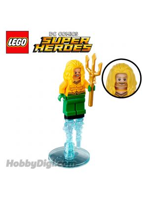 LEGO Loose Minifigure DC Comics: Aquaman with Trident and Power Burst