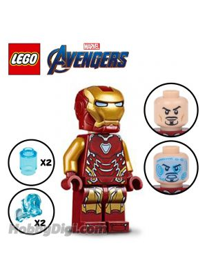 LEGO Loose Minifigure Marvel: Iron Man MK 85 with 2 Power Blasts