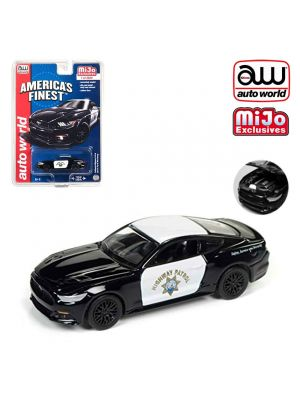 Auto World 1:64 Mijo Exclusives Diecast Model Car - California Highway Patrol 2017 Ford Mustang