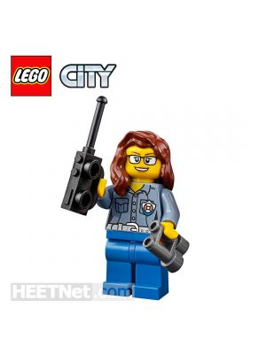 LEGO Loose Minifigure City: Female Lifeguard with Walie-talkie and Binoculars
