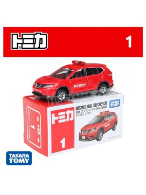Tomica Diecast Model Car No1 - Nissan X-Trail Fire Command Car