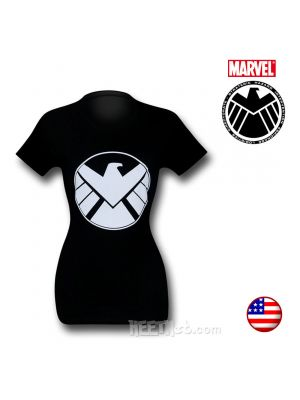 SHIELD Logo Women Black T-Shirt