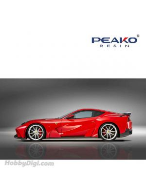 Peako Peako64 1:64 Diecast Model Car - NOVITEC 812 N-Largo, Red Scuderia