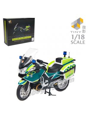 Tiny Hobby 1:18 Model Car - BMW Hong Kong Auxiliary Medical Service Ambulance Motorcycle R900RT-P