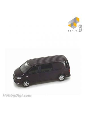 Tiny City 1:64 Diecast Model Car 176 - Volkswagen T6 Transporter (Blackberry Metallic LL4U)