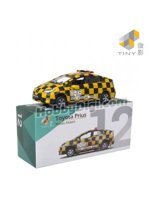 Tiny City MC12 1:64 Diecast Model Car - Toyota Prius Macau International Airport Patrol