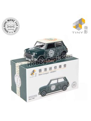 Tiny City 1:50 Diecast Model Car 146 - Mini Cooper Mk 1 Hong Kong Mini Fan Club (Green)