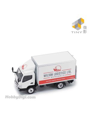 Tiny City 1:76 Diecast Model Car 67 - Mitsubishi Fuso Canter Box Lorry Wilson Logistics LTD.