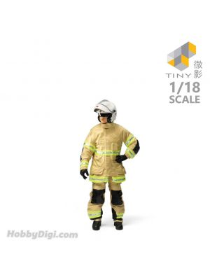 Tiny Hobby 1:18 Resin Figure 27 - 1990's Fireman (Fire Motorcycle)