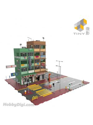 Tiny City 1:64 Diorama Bd7 - Hong Kong Old Tenements Street Diorama Ver.4 (Two-Tone)