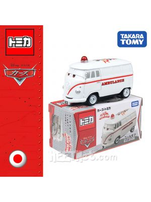 Tomica Disney Cars Diecast Model Car - GO!GO! Fillmore Ambulance Type