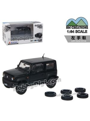 BM Creations Junior 1:64 Diecast Model Car - Suzuki Jimny (JB74) Bluish Black Pearl 3 (Left Hand Drive)