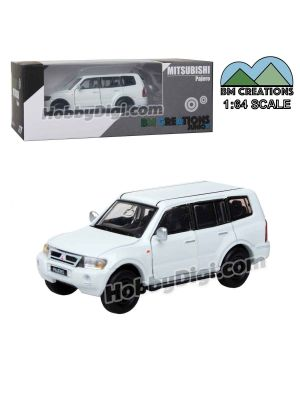 BM Creations Junior 1:64 合金模型車 - Mitsubishi Pajero 2003 White (左手軚)