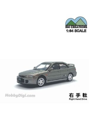 BM Creations 1:64 Diecast Model Car - Mitsubishi Lancer Evolution I II Silver (Right Hand Drive)