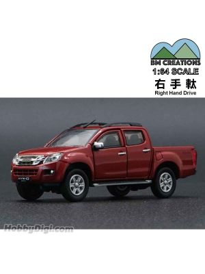 BM Creations Junior 1:64 合金模型車 - ISUZU 2016 D-MAX Orange (右手軚)