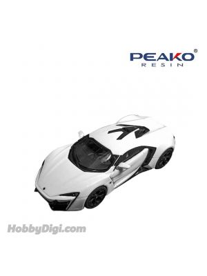 Peako Peako64 1:64 Diecast Model Car - Lykan HyperSport (White)