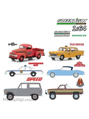 Greenlight 1:64 套裝合金車 - Hollywood Series 26 Assortment 一套6架