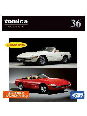Tomica Premium Diecast Model Car No36 - Ferrari 365 GTS4 Set of 2