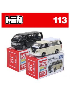 [2019 Sticker] Tomica Diecast Model Car No113 - Toyota Hiace Set of 2 boxes