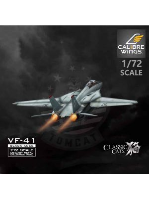 Calibre Wings 1:72 Diecast Model Aircraft - F-14A VF-41 Black Aces