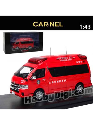 HIKOSEVEN CarNel Models 1:43 Diecast Model Car - Toyota Himedic 2015 Yamato-shi Fire Department Command Car
