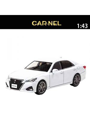 HIKOSEVEN CarNel Models 1:43 Diecast Model Car - Toyota Crown Athlete (GRS214) 2016 White Pearl