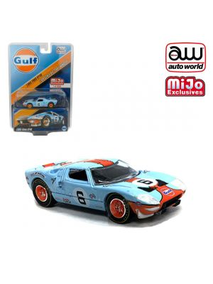 Auto World 1:64 Mijo Exclusives Diecast Model Car - 1965 Ford GT40 (Gulf Livery)