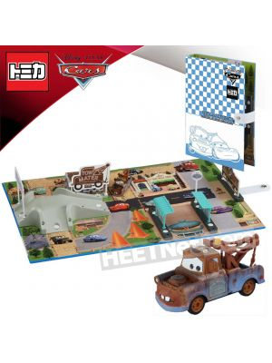 Tomica Disney Cars - Radiator Spring Playmap with Mater