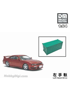 Diecast Masters 1:64 Diecast Model Car - Nissan Silvia S14 Red (Left Hand Drive)
