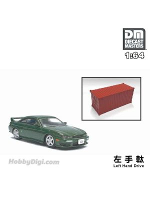Diecast Masters 1:64 Diecast Model Car - Nissan Silvia S14 Green (Left Hand Drive)