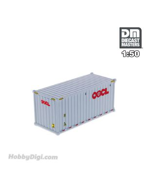 Diecast Masters 1:50 合金車 - 20' Dry goods sea container, OOCL (white)