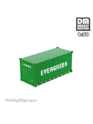 Diecast Masters 1:50 合金車 - 20' Dry goods sea container,  EverGreen (dry in green)