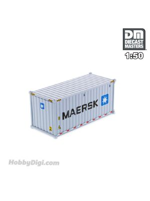 Diecast Masters 1:50 合金車 - 20' Dry goods sea container,  MAERSK (dry in grey)