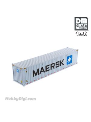 Diecast Masters 1:50 合金車 - 40' Dry sea container, MAERSK (dry in grey)