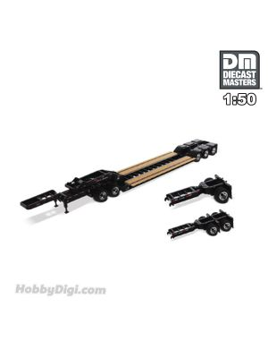 Diecast Masters 1:50 合金車配件 - XL 120 Low-Profile HDG Trailer (Outrigger Style), with 2 Boosters and Jeep