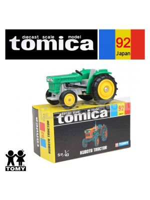 Tomica Retired Black Box Made in Japan Diecast Model Car No92 Kubota Tractor