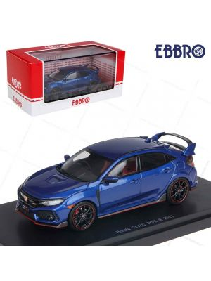 EBBRO Hot 1:43 模型車 - Honda Civic Type R 2017 (Brillant Sporty Blue Metallic)
