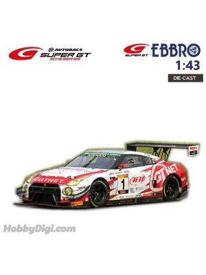 EBBRO Super GT 2019 1:43 Diecast Model Car - GTNET GT3 GT-R SUPER TAIKYU 2019 Fuji 24H Race Winner No.1
