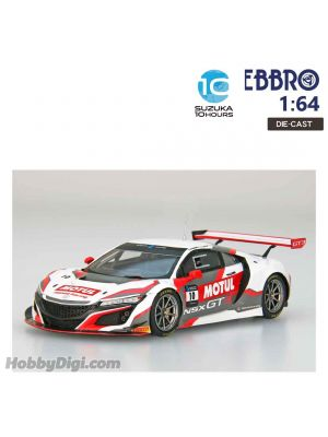 EBBRO Super GT 2019 1:64 Diecast Model Car - Honda Team Motul NSX GT3 SUZUKA 10 HOURS 2018